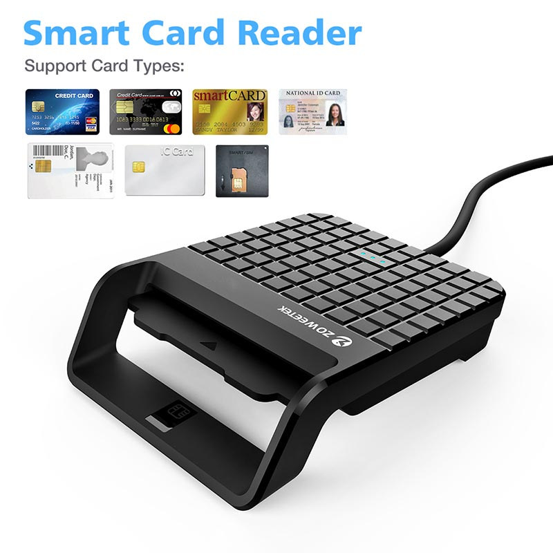 Zoweetek Smart Card Reader DOD Military